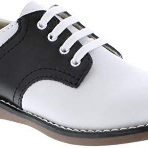 FootMates Unisex Cheer 3 (Infant/Toddler/Little Kid) White/Black Oxford