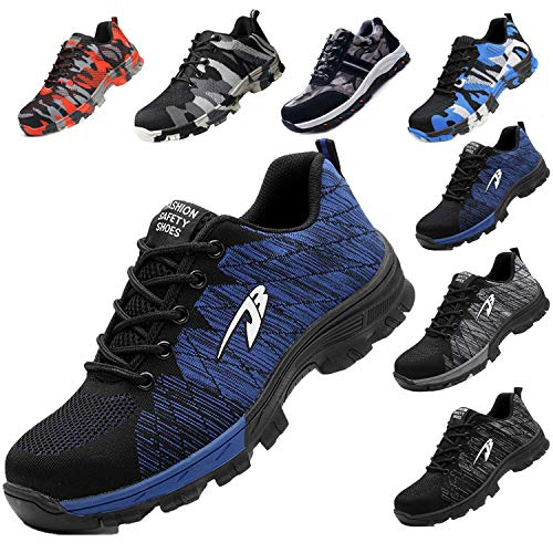 JACKSHIBO Steel Toe Work Shoes for Men Women Safety Shoes