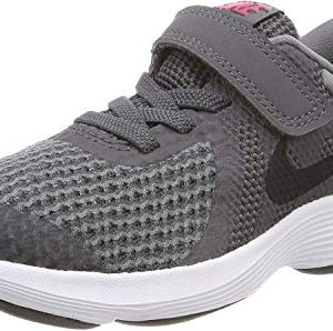 Nike Boys' Revolution 4 (PSV) Running Shoe, Dark Grey/Black