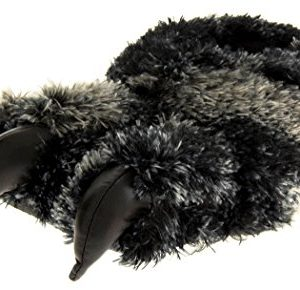 Dunlop Mens Black Faux Fur Monster Claws Novelty Slippers