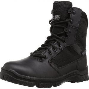 "Danner Men's Lookout Side-Zip 8"" Black Military & Tactical Boot"