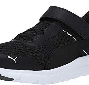 PUMA Unisex Flex Essential Velcro Sneaker, black-black
