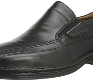 Josef Seibel Men's Herren Classical Low Black Leder Uniform Dress Shoes