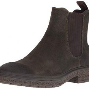 ECCO Men's CrepeTray Chelsea Boot, Tarmac Suede
