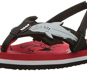 Reef Boy's Little Ahi Shark Sandals, Red Shark
