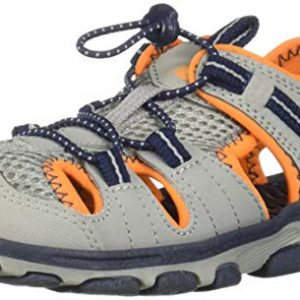 New Balance Kid's Adirondack Sandal Sport, Grey/Orange