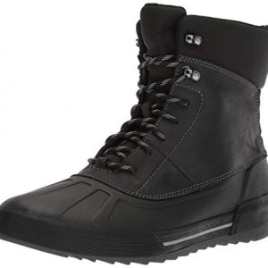 CLARKS Men's Bowman Peak Ankle Boot, Black Leather