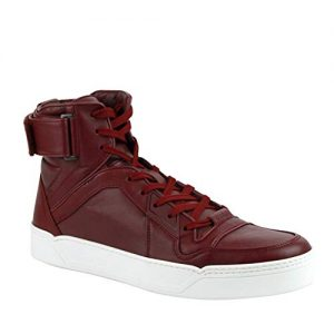 Gucci Men's Basketball High-Top Sneaker, Strong Red
