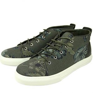 Gucci Men's Green Lace-up Floral Fabric Fashion Sneakers