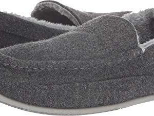 Deer Stags Men's Spun Slipper Dark Grey