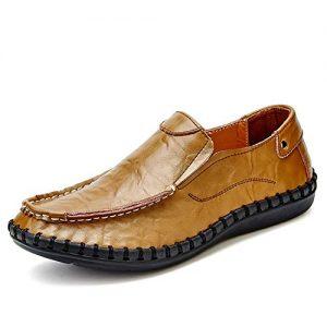 Men Casual Shoes Men Shoes Genuine Split Leather Men Flats Slip On