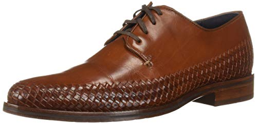 Cole Haan Mens Washington Grand Woven Plain Oxford British Tan Woven