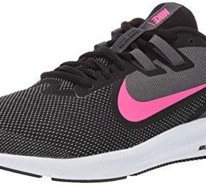 Nike Women's Downshifter 9 Sneaker, Black/Laser Fuchsia