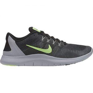 Nike Men's Flex RN 2018 Running Shoe Black/Lime Blast/Cool Grey