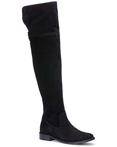 Frye Women's Shirley OTK Slouch Boot, Black