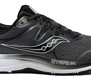 Saucony Men's Omni ISO 2 Running Shoe, Grey/Black