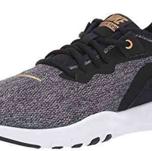 Nike Women's Flex Trainer 9 Sneaker, Black/Metallic Gold