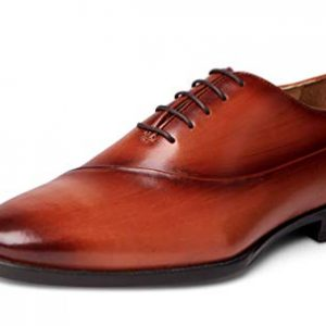 Carlos Santana Coltrane Men's Designer Hand Painted Whole-Cut Oxford Shoes