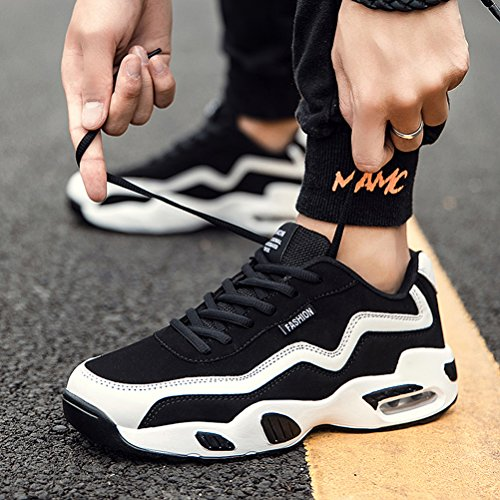 Respeedime Men's Fashion Breathable Sneakers Sports Respeedime Men's Fashion Breathable Sneakers Sports Running Shoes Grey.