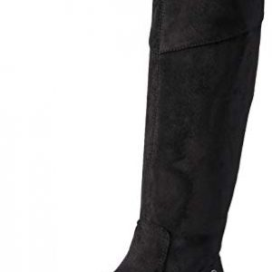 BZees Women's Boomerang Knee High Boot, Black