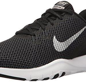 Nike Women's Flex Trainer Running Shoe, Black/Metallic Silver