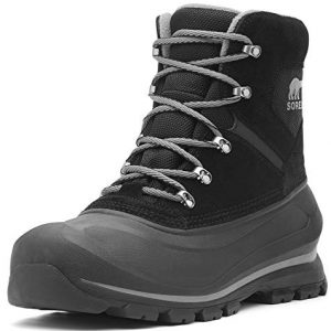 Sorel Men's Buxton LACE Snow Boot, Black, Quarry