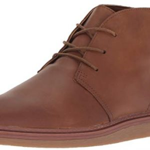 CLARKS Women's Dove Roxana Chukka Boot, Dark tan Leather