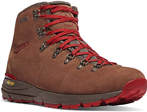 """Danner Men's Mountain 600 4.5"""" Hiking Boot, Brown/Red-Suede"""