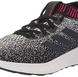adidas Women's PureBounce+ Running Shoe, White/Black/Chalk Pearl