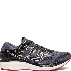 Saucony Men's Hurricane ISO 5 Running Shoe, Grey/Black
