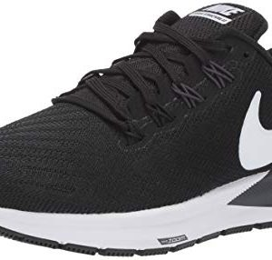 Nike Women's Air Zoom Structure Running Shoe Black/White/Gridiron