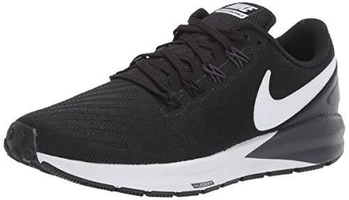 Nike Women's Air Zoom Structure Running Shoe Black/White/Gridiron