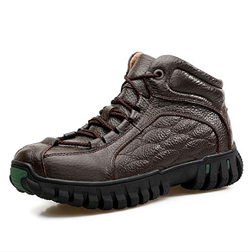 NiuBuLaio Men Boots Genuine Leather Winter Boots