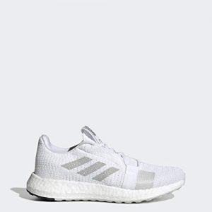 adidas Women's SenseBOOST GO Running Shoe, White/Grey/Black