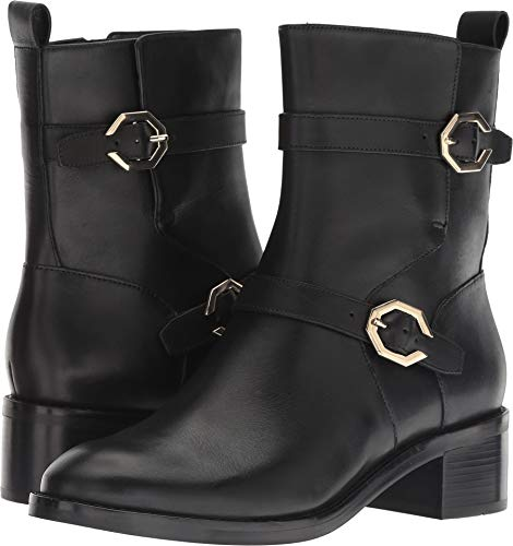 Cole Haan Leela Grand Moto Boot Black Leather