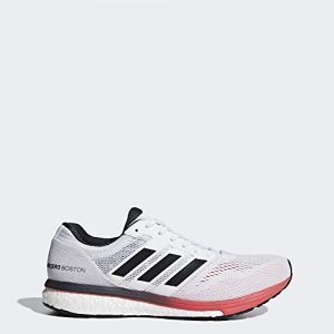 adidas Men's Adizero Boston 7, White/Carbon/Shock red