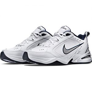 Nike Men's Air Monarch IV Cross Trainer, White/Metallic Silver/Midnight Navy