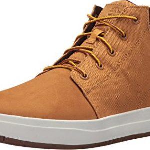 Timberland Mens Davis Square Mixed-Media Chukka Wheat Nubuck/Cordura Boot