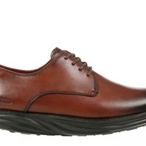 Men's Boston Burnished Dark Brown Oxfords
