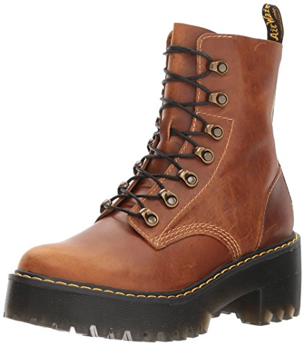 Dr. Martens Women's Leona Orleans Fashion Boot, Butterscotch