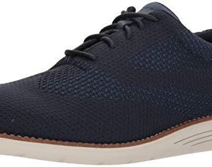 Rockport Mens Total Motion Sports Dress Woven Oxford New Dress Blues
