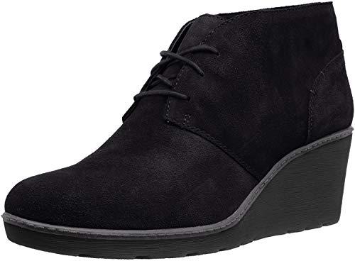 CLARKS Women's Hazen Charm Fashion Boot, Black Suede