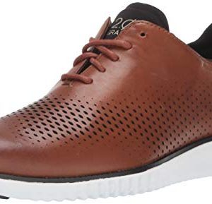 Cole Haan Mens 2 Zerogrand LSR Wing British Tan/Black/Ivory