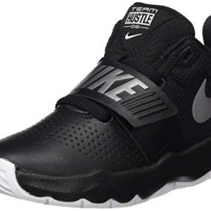 Nike Boys' Team Hustle D 8 (PS) Basketball Shoe, Black/Metallic Silver