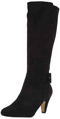 Bella Vita Women's Troy II Dress Boot Knee High, Black Suede