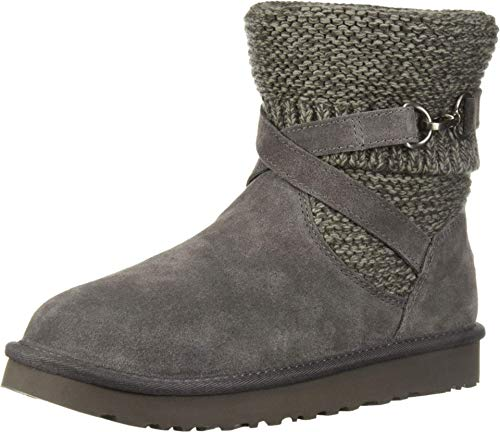UGG Women's W Purl Strap Boot Fashion, charcoal