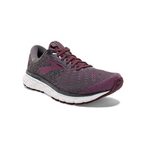 Brooks Womens Glycerin 17 Running Shoe - Ebony/Wild Aster/Fig