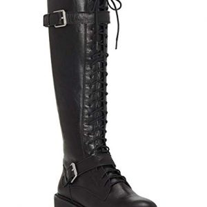 Lucky Brand Womens Inniko Leather Tall Knee-High Boots Black