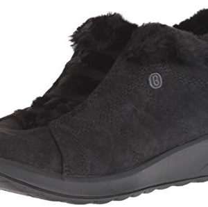 BZees Women's Golden Sneaker Microfiber/Black Faux Fur