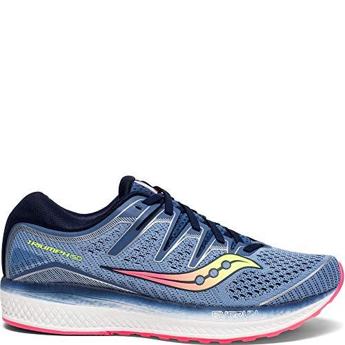 Saucony Women's Triumph ISO 5 Running Shoe, Blue/Navy